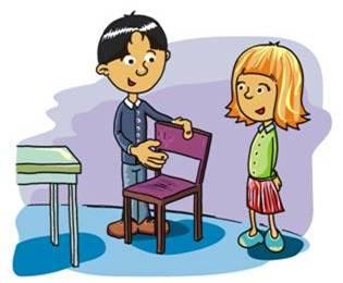 grafika_chłopiec odsuwający krzesło