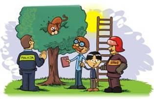 rysunek - strażak pomagający