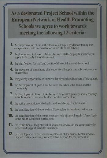 Certykikat Szkoły promującej zdrowie