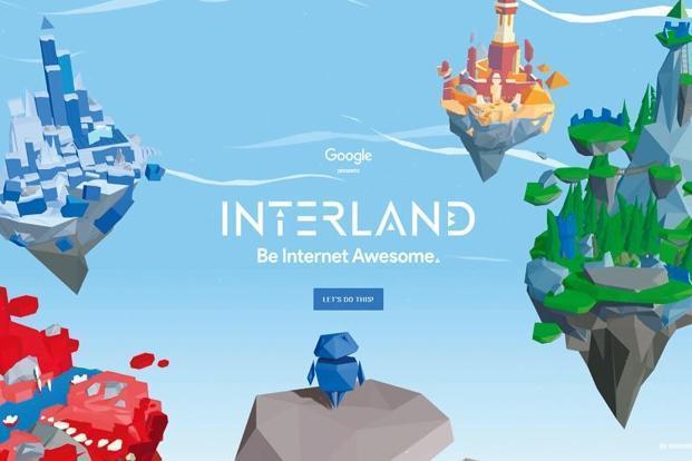 """Grafika """"Interland""""."""