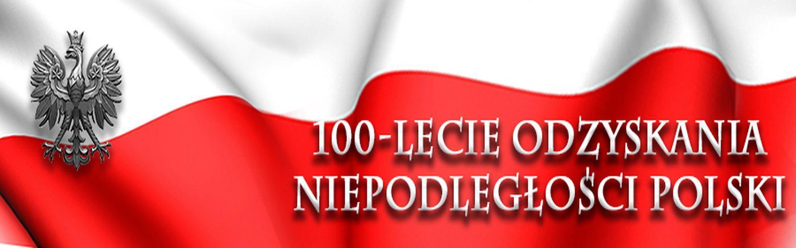 Grafika na 100-lecie odzyskania niepodległości.