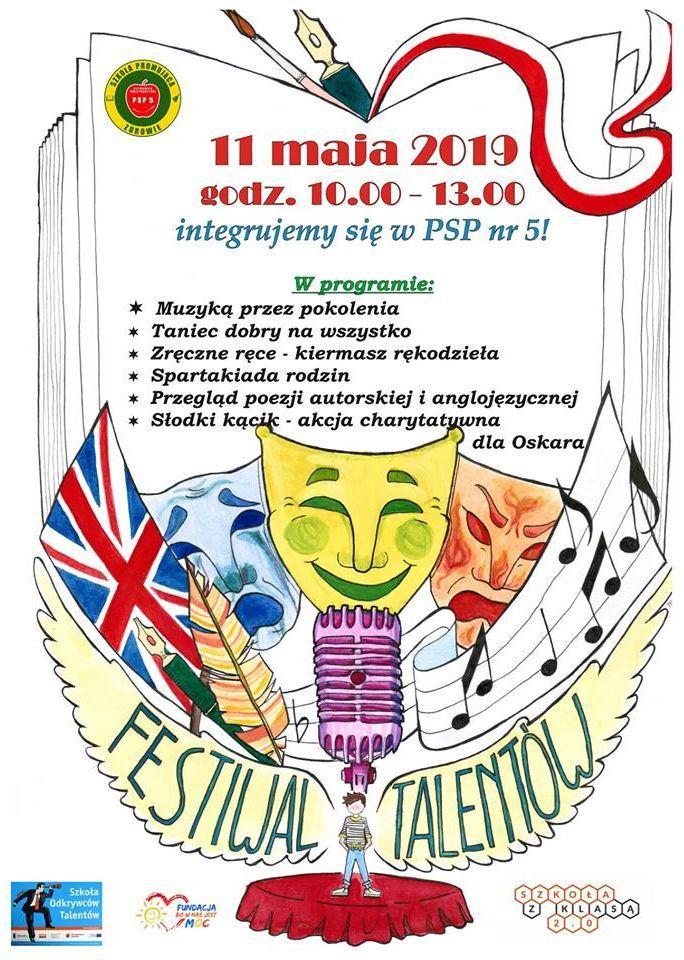 Plakat Festiwalu talentów