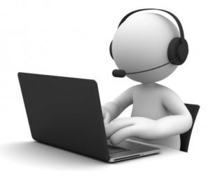 Grakika przedstawiająca ludzika piszącego na komputerze.